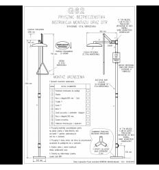 Prysznic bezpieczeństwa na nodze G62