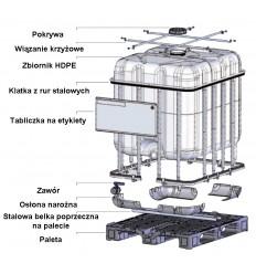 Paletopojemnik IBC 600 L