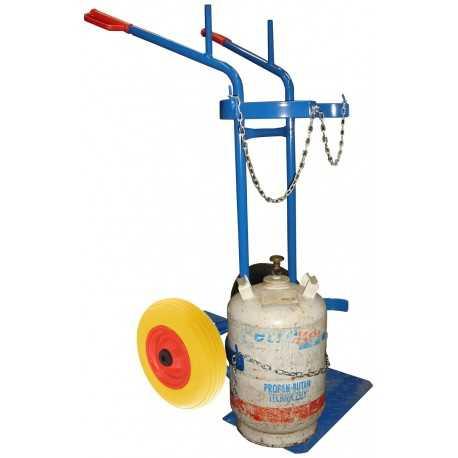 Wózek spawalniczy do transportu butli z gazem
