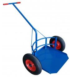 Wózek dwukołowy taczkowy do transportu dużych donic