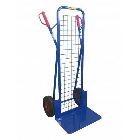 Wózek dwukołowy taczkowy z siatką