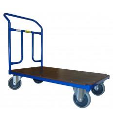 Wózek ręczny platformowy, poręcz przykręcana, 400 kg