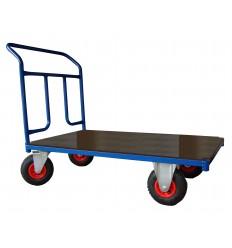 Wózek ręczny platformowy, poręcz przykręcana, 250 kg