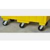 Pojemnik polietylenowy HDPE, kontener z pokrywą, (416 l.)