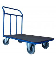 Wózek ręczny platformowy, poręcz spawana, 400 kg