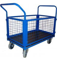 Wózek platformowy magazynowy osiatkowany