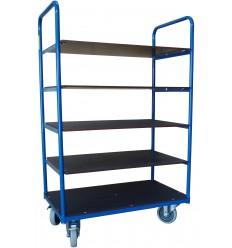 Wózek regałowy 250 kg, 5 półek 850x500x1500 mm