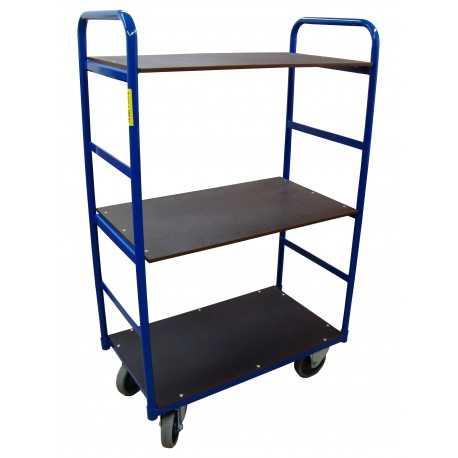 Wózek platformowy trzypółkowy