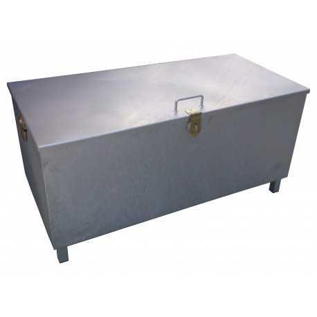 Pojemnik (skrzynia) na zużyte świetlówki, akumulatory, filtry olejowe 1250x600x600 mm ocynkowany