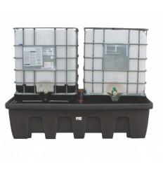 Paleta (wanna) wychwytowa, polietylenowa na 2 kontenery IBC/KTC, pojemność 1200 l