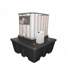 Paleta (wanna) wychwytowa, polietylenowa na 1 kontener IBC/KTC, pojemność 1260 l