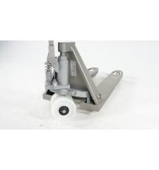 Wózek paletowy częściowo ze stali nierdzewnej 2T 1130x520, pojedynczy nylon