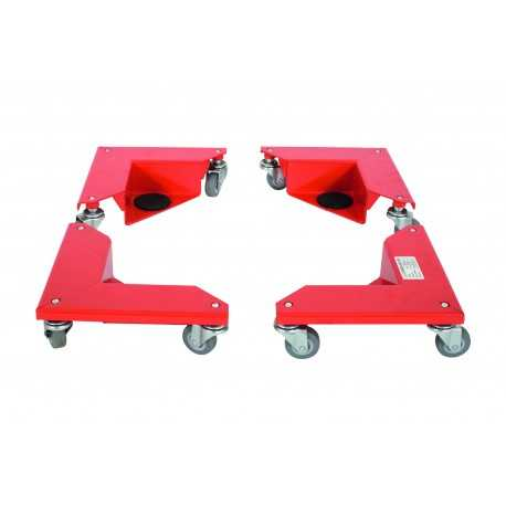 Narożnikowy wózek transportowy do mebli i maszyn