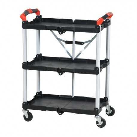 Składany wózek serwisowy z 3 półkami