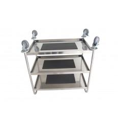 Gastronomiczny wózek transportowy ze stali nierdzewnej, 3 półki