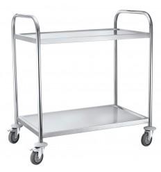 Wózek platformowy ze stali nierdzewnej, 2 półki