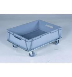 Ocynkowany płaski wózek 800x600, do koszy, kartonów pojemników EURO