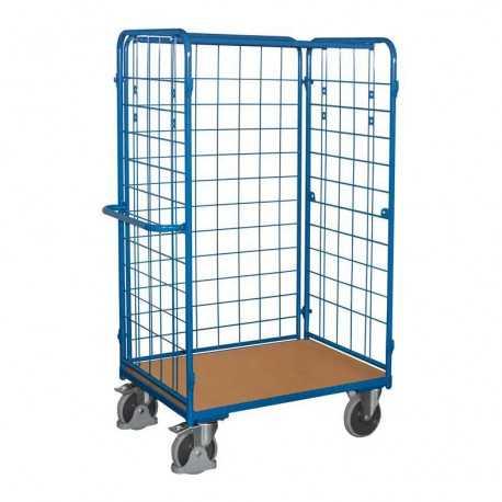 Wózek do paczek osiatkowany 1000x700