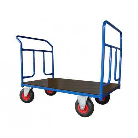 Dwuburtowy wózek platformowy (1200x700), 250 kg