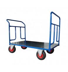 Dwuburtowy wózek magazynowy, blacha (1000x700), 250 kg