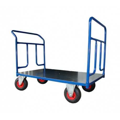 Dwuburtowy wózek transportowy, blacha (1000x600), 250 kg