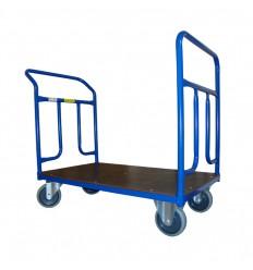 Dwuporęczowy wózek magazynowy, sklejka (1000x600), 400 kg