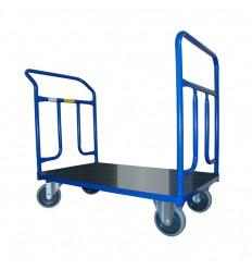 Dwuporęczowy wózek magazynowy, blacha (1000x600), 400 kg