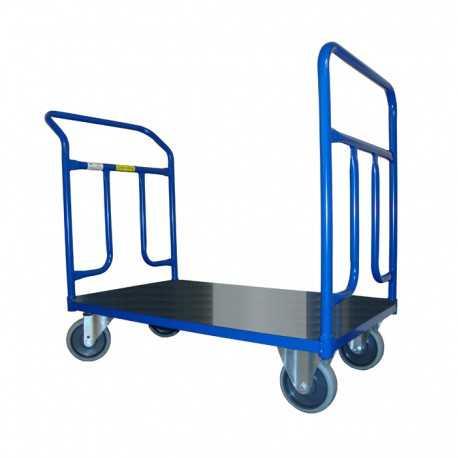 Dwuporęczowy wózek transportowy, blacha (1200x700), 300 kg