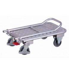 Aluminiowy wózek platformowy ze składanym uchwytem