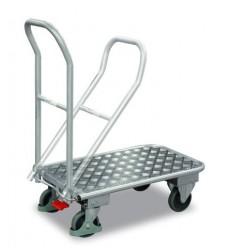Aluminiowy wózek magazynowy ze składanym uchwytem
