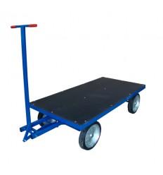Platforma transportowa z dyszlem skrętnym, sklejka, 1500 kg