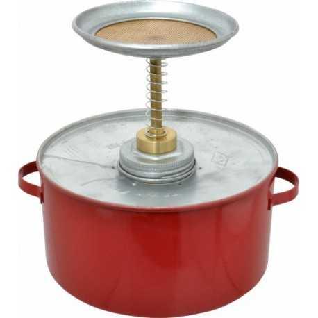 Pojemnik tłokowy stalowy