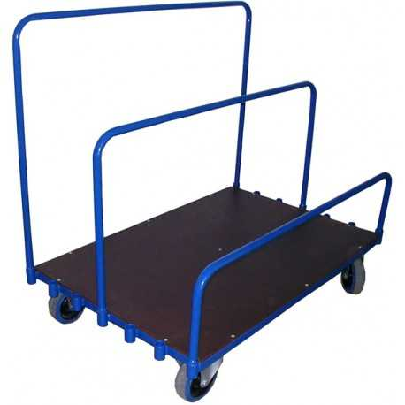 Wózek do przewozu płyt, drzwi i długich elementów.
