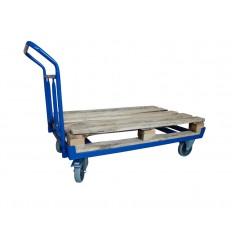 Wózek do transportu EURO palet z poręczą, 400 kg