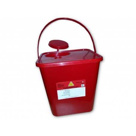 Pojemnik na odpady medyczne 5 l - 40 szt.