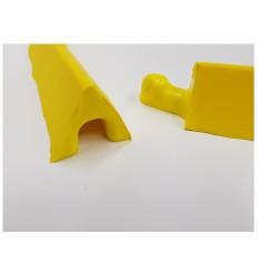 Żółta elastyczna bariera poliuretanowa (300 x 7 x 5 cm)