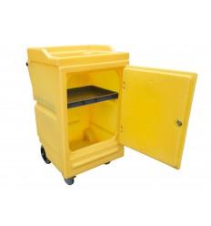 Mobilna szafka polietylenowa na sorbent i chemikalia (64x72,5x107,5 cm)