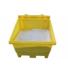 Pojemnik na sól lub piasek z zamykaną pokrywą