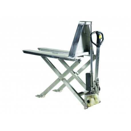 Podnośnik nożycowy ze stali nierdzewnej - wózek platformowy