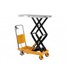 Wózek podnośnikowy z podwójnymi nożycami